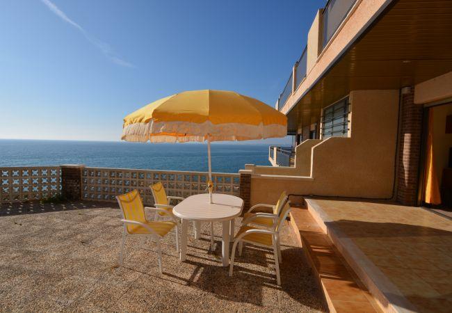 Apartamento en Salou - Apartamento con espectacular terraza sobre el mar