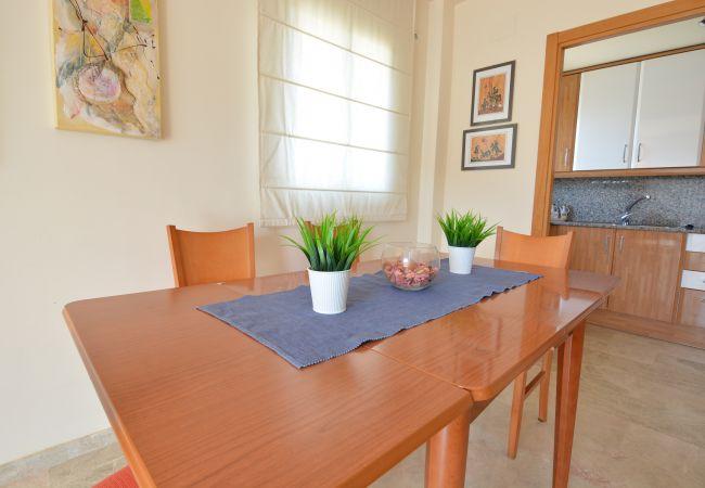 Apartamento en Salou - Atico con terraza y piscina en Residencial Ventura Park